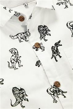 Buy Dino Print Short Sleeve Shirt (3-16yrs) from the Next UK online shop