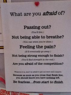 be fearless from start to finish.