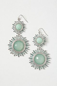 Aquamarine Pinwheel Drops #anthropologie - Gift for women and girls, wedding & bridal. In our collection you'll find gold & 925 sterling silver products, ring, necklaces, earrings, bracelets, brooches, cuff links with Swarovski crystals. Sale 50% off!