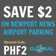 PHF Newport News Airport Parking Coupon