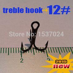 Free shipping Treble Fishing Hooks 12# 500pcs direct factory best high carbon steel hooks