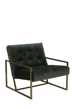 A stunning olive green vegan friendly velvet chair with gold armrests and legs. A statement piece for any home. x x This product is order in on 14 - 21 days. Steel Furniture, Living Furniture, Living Room Chairs, Polywood Adirondack Chairs, Outdoor Chairs, Outdoor Furniture, Green Home Decor, Office Seating, Interior Decorating