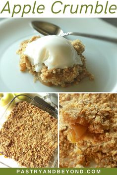 Easy Apple Crumble Recipe-This apple crumble is so easy to make and delicious with tangy apples and crispy crumbles. You'll love this classic and simple Fall dessert recipe! #applecrumble #apples #crisp #easyrecipe #fall Apple Crumble Recipe Easy, Best Apple Crisp Recipe, Crumb Recipe, Apple Crisp Recipes, Fall Dessert Recipes, Fall Desserts, Delicious Desserts, Mini Desserts, Fall Recipes