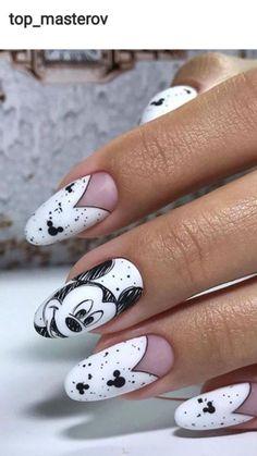 Disney Inspired Nails, Disney Acrylic Nails, Summer Acrylic Nails, Best Acrylic Nails, Acrylic Nail Designs, Nail Art Designs, Disney Nails Art, Easy Disney Nails, Coffin Nails Matte