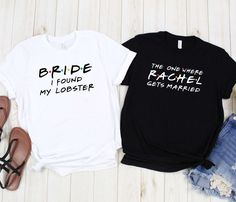 Personalized Bacherlorette Party Bridesmaid Bridal Shower t shirt Friends Tv Show Gifts, 30th Birthday Ideas For Women, Bridesmaid Shirts, Bridesmaids, Birthday Woman, Getting Married, Just In Case, Custom Shirts, Amor