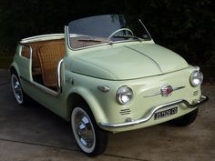 1959 Fiat 500 - this would be fun to tool around town cars cars sports cars vs lamborghini sport cars Luxury Sports Cars, Sport Cars, Fiat Sport, Sport Sport, Van 4x4, Cars Vintage, Vintage Bicycles, Retro Cars, Porsche