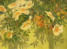 Roses and Shadows,  Meredith Brooks Abbott; 2014; Oil on canvas
