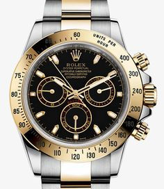 Rolex Cosmograph Daytona Watch: Yellow Rolesor - combination of 904L steel and 18 ct yellow gold - 116523