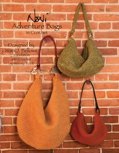 Adventure Bags, Noni Designs, crocheted and felted pattern