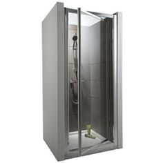 Porte de douche pivotante profilés chromés 90 cm Tara