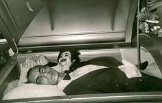 open casket.. this is a bit creepy