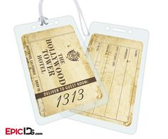 Hollywood Tower Hotel Classic Style Aged Luggage Bag Tag