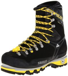 Salewa Men's MS Pro Guide W Mountaineering Boot, Black/Yellow, 10 W US -- For more information, visit image link. Men Hiking, Hiking Boots, Mens Work Shoes, Mountaineering Boots, Trekking Shoes, Gents Fashion, Mens Boots Fashion, Cool Boots, Men's Boots
