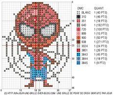 Grid cross stitch free - Spiderman
