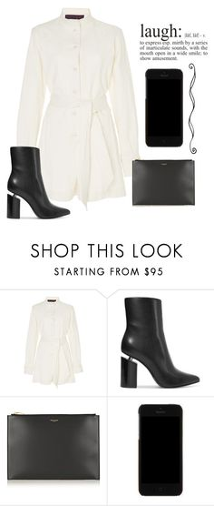 """Laugh"" by nicolekiddzoo ❤ liked on Polyvore featuring Martin Grant, Alexander Wang, Yves Saint Laurent, Dolce&Gabbana and WALL"