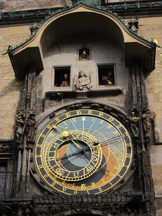Fascinating astronomical clock, Prague