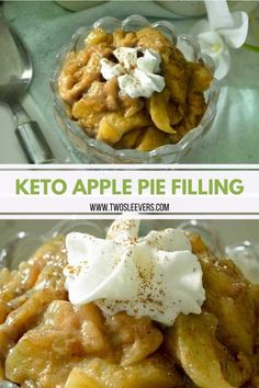 Keto Apple Pie filling recipe that uses no apples, but still tastes EXACTLY like apple pie! Here's a great sugar-free, healthy mock apple pie filling recipe, ready in under 30 minutes. Low Carb Pie Recipe, Filling Recipe, Low Carb Recipes, Healthy Recipes, Apple Pie Recipes, Baking Recipes, Dessert Recipes, Cake Recipes, Sugar Free Apple Pie