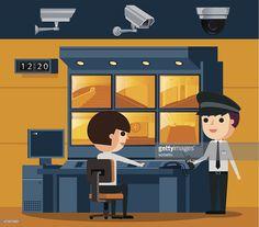 Vector Art : Surveillance Control Room