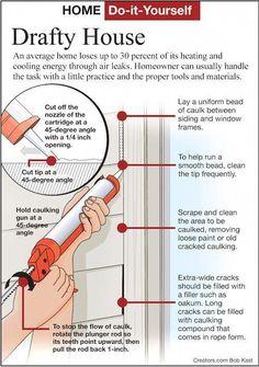 DIY Project - A Simple, Effective Method to Caulk Windows - National Ledger Diy Generator, Homemade Generator, Home Improvement Projects, Home Projects, Diy 3d, Home Fix, Diy Home Repair, Thing 1, Home Repairs