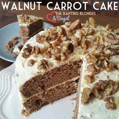 WALNUT CARROT CAKE WITH A LEMON CREAM CHEESE FROSTING       Easter... Bunnies... Carrots... get the vibe? We just couldn't go this