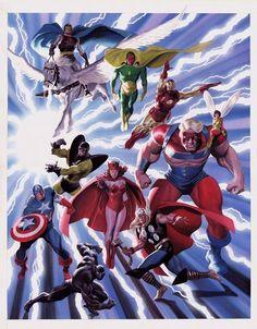 O artista plástico Alex Ross mudou todo o conceito das histórias em quadrinhos com seus desenhos hiper realistas os transformando em verdadeiras obras de arte.