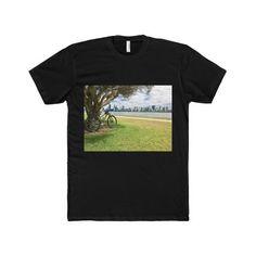 Bikers Landscape - Men's Premium Fitted Short-Sleeve Crew Neck T-Shirt