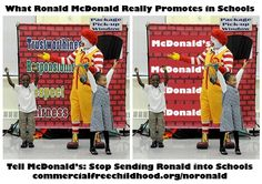 Where is #NutritionJustice when the Joe Camel of fast food uses schools to reinforce McDonald's marketing lies?