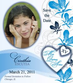 Save the Date Quinceanera Tiara Flexi Magnet   ~~my quinceanera ...