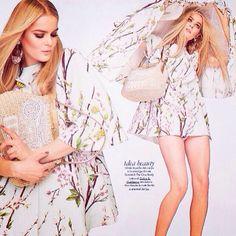 "@Tüfox Beauty by @Dolce & Gabbana ""Blooming! Dolce&Gabbana Spring/Summer 2014 look on ELLE Italia editorial. #dolcegabbana #dgeditorials #dgwomen"""