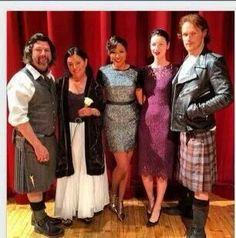 LA Fan Event- Ron Moore, Diana Gabaldon, Cait Balfe, and Sam Heughan (along with Alicia Quaries)