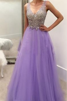Formal Dress, Lavender Long Prom Dresses Party Evening Dress Beading Pleated Back Lace up Floor Length Prom Dress,Wedding Guest Prom Gowns, Formal Occasion Dresses,Formal Dress JA319