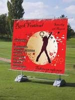 There are various different types of roller banners of which two types are very similar in that the graphics are not stored in the stand. These types of banners are transported separately and then attached to the frame when being used. Firstly the rigid pole banner stands are durable and come is sizes suitable for erecting a backdrop without seams.