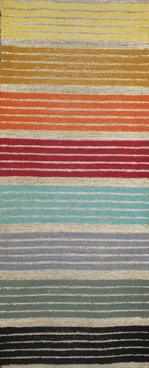 Marianne Strengell, rug/draperyhand-woven and dyed wool, mixed woven fibers, c. 1950.