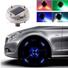 1 Piece Car Auto 12 LED Solar Tire Wheel Light Vehicle Decoration Warning Lamp