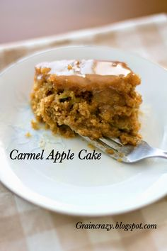 Grain Crazy: Caramel Apple Cake (Whole Grain)