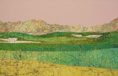 Empire Revisited, 2009 - simple landscape collage made from maps