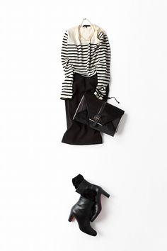 Kyoko Kikuchi's Closet | ボーダー×タイトスカート。スポーティ&モードな気分で