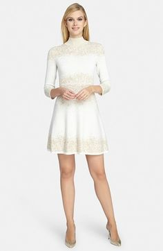 Catherine Malandrino Catherine 'Daisey' Metallic Jacquard Dress on shopstyle.com