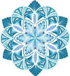 Energize It Ocean White Mandala by Jane Snedden Peever