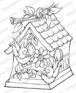 Impression Obsession Cling Mounted Rubber Stamp by Tara Caldwell - Birdhouse