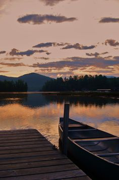 Lake Placid in the morning.