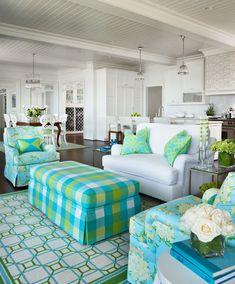 Love the Lilly Pullitzer fabrics on the upholstery! Designer: Marianne Jones - Birmingham, MI