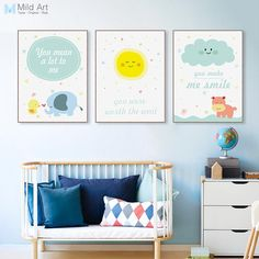 Modern Cartoon Inspiration Motivation Quotes Large Canvas Art Print Poster Wall Picture Painting No Frame Kawaii Kids Room Decor