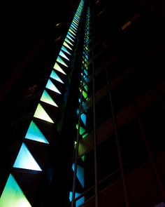 Lovely Lights Classic Building, Modern Architects, Condominium, Mid-century Modern, Mosaic, Electric, Stairs, Mid Century, Lights