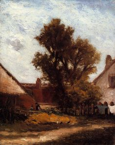 The Athenaeum - The Tree in the Farm Yard (Paul Gauguin - )