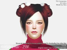 Chinese Buns Hairstyle for The Sims 4