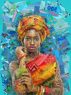 A series of mosaic illustrations created as cover art for Womankind magazine by Greek visual designer Charis Tsevis based in Pafos, Cyprus.