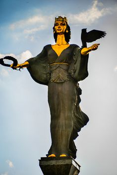 Statue of Sveta Sofia in Sofia Bulgaria
