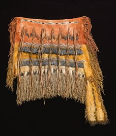 Apache beaded and fringed puberty skirt