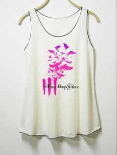 Three days grace women tank top off white shirt by MGcafe on Etsy, $14.99